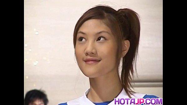 Naughty Asian teen Azusa Ayano gangbanged in ho…